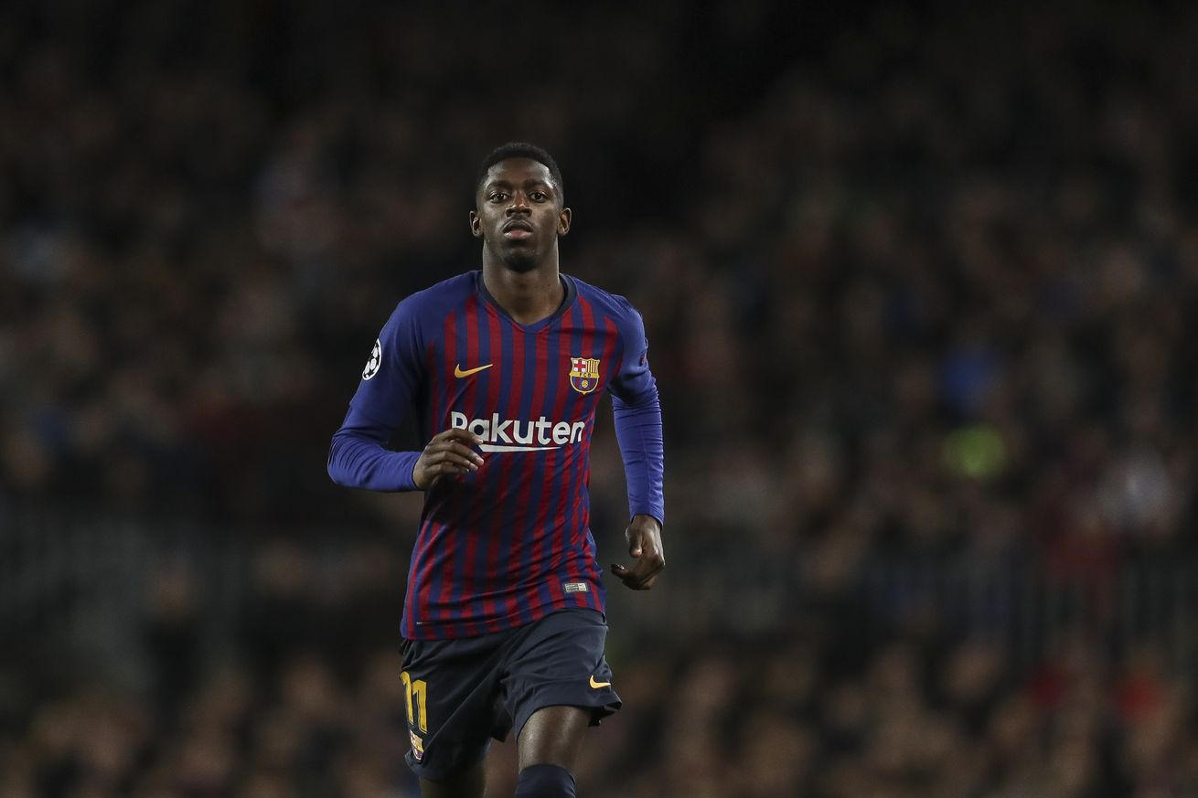 Dembele back in Barca training