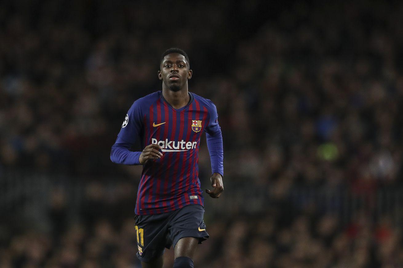 Dembele back in Barca training