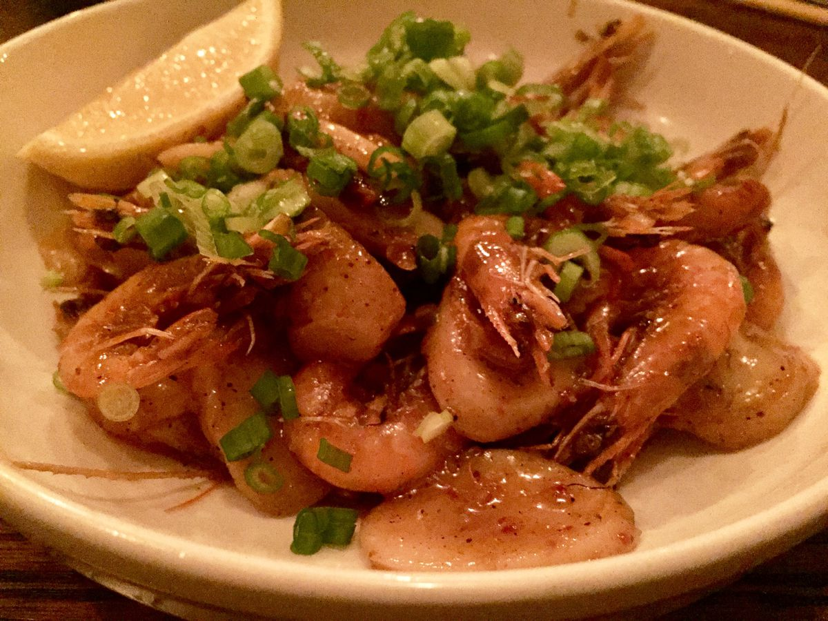 Momofuku Ssam Bar's spicy shell-on shrimp