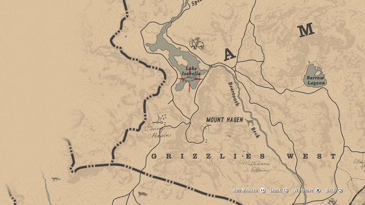 Red Dead Redemption 2Legendary Sockeye Salmon location
