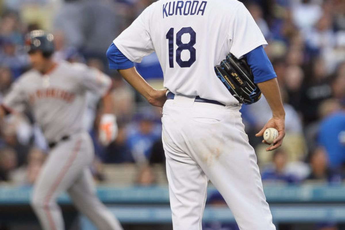 Hiroki Kuroda and the Dodger pitchers have given up quite a few longballs in the first week of the season.