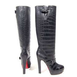 """Louboutin Crocodile Tall Boots, <a href=""""http://www.shopdecadesinc.com/shop/viewproduct/7509"""" target=""""_blank"""">$8,000</a>. """"These came to us New in Box. Originally $20,000."""""""