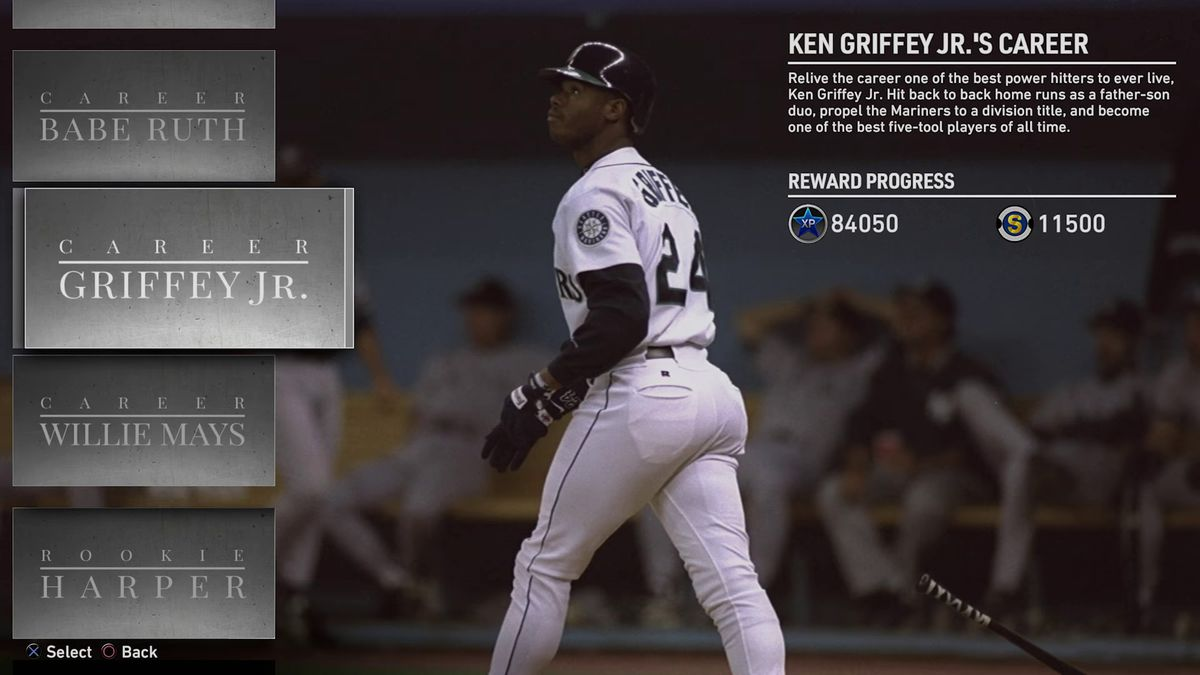 MLB The Show 19 - Ken Griffey Jr.'s career in Moments mode