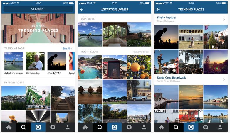 Instagram explore update