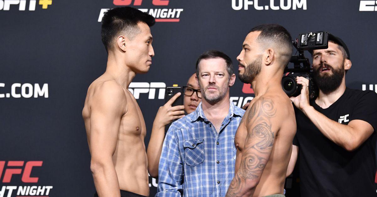 Video: UFC Vegas 29 weigh-in staredowns