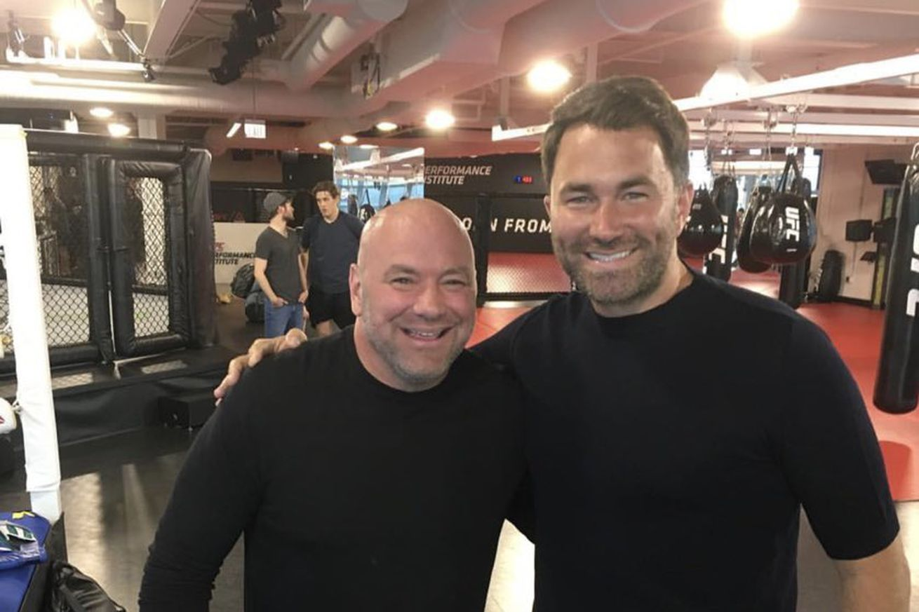 danawhite 2019 Apr 29.0 - Hearn and Dana White meet up in Las Vegas ahead of Canelo-Jacobs
