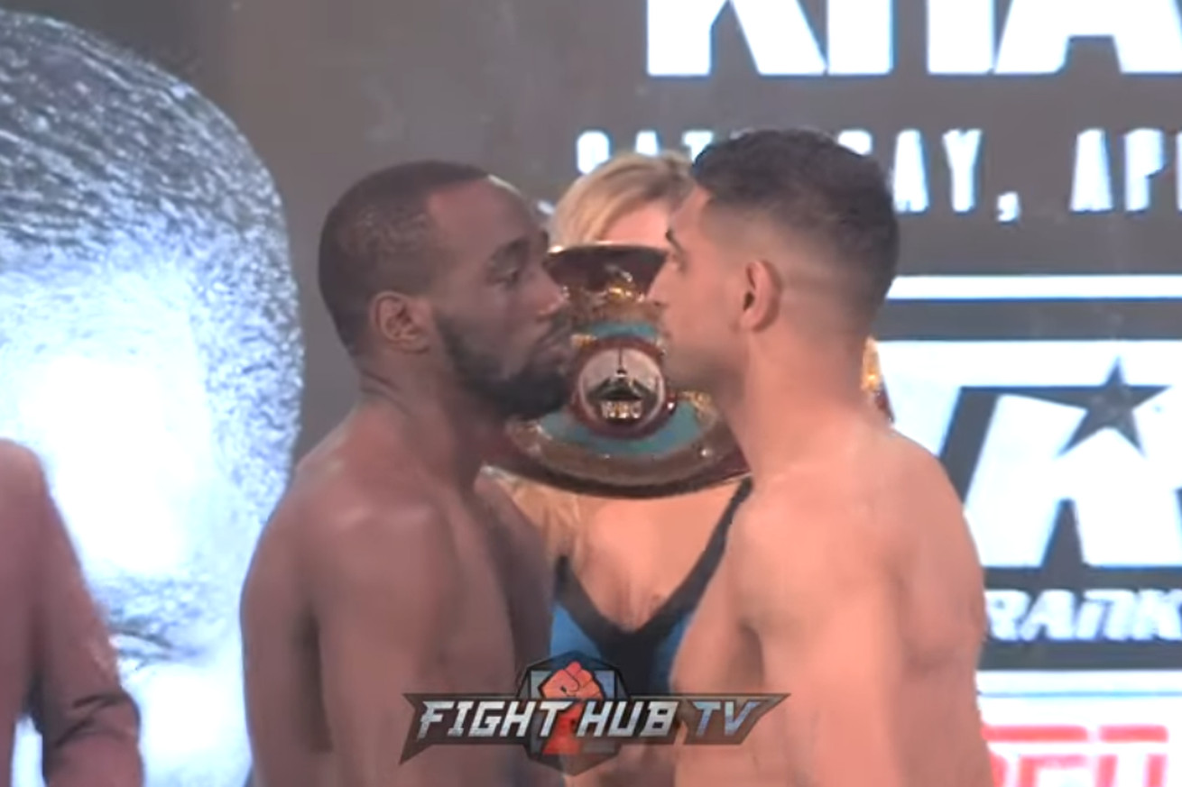Screen Shot 2019 04 19 at 4.22.08 PM  2 .0 - Crawford, Khan stare at each other at weigh-in