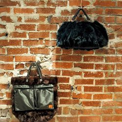 Sacai fur satchel and tote bags