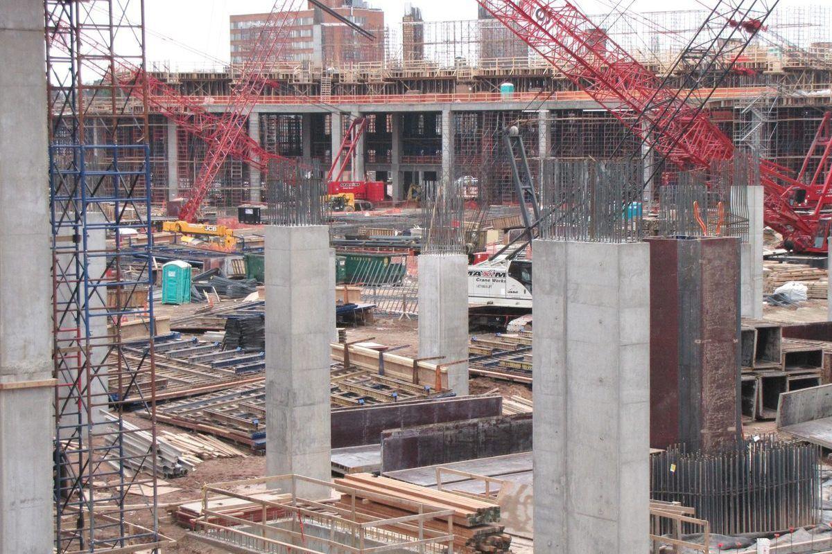 [Pillars of progress? Photos: Tyler Estep, Curbed Atlanta]