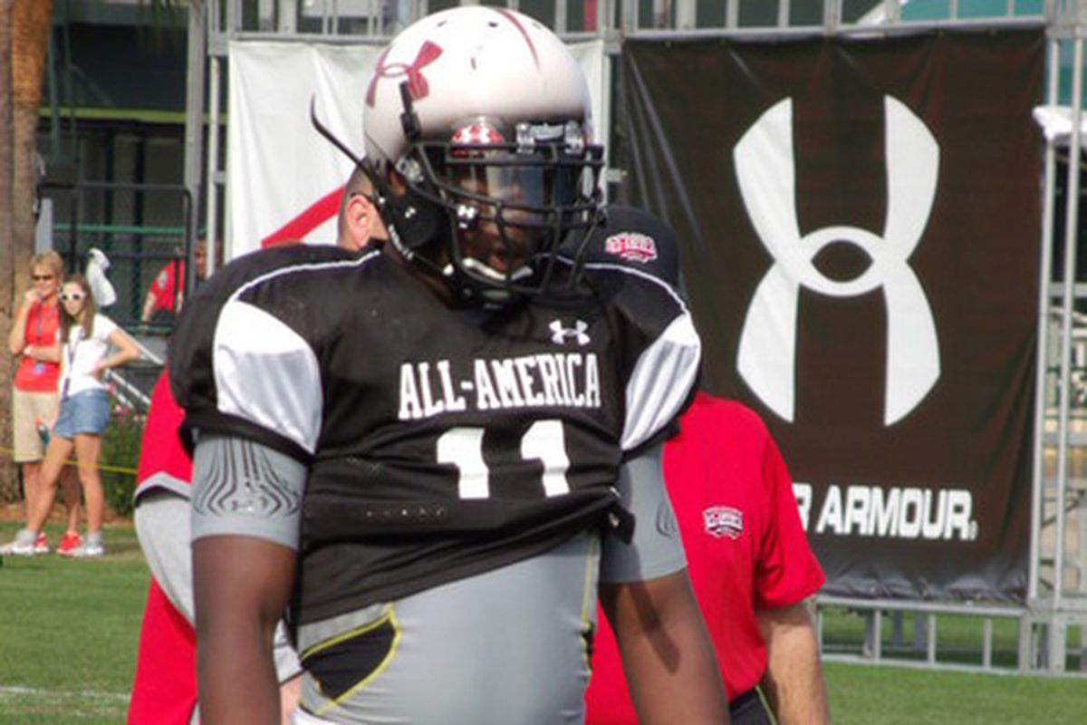 Channing Ward at the Under Armour combine.