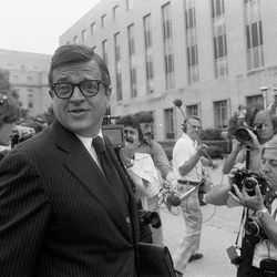 In this June 21, 1974 , file photo former Nixon White House aide Charles W. Colson arrives at U.S. District Court in Washington to be sentenced for obstructing justice.