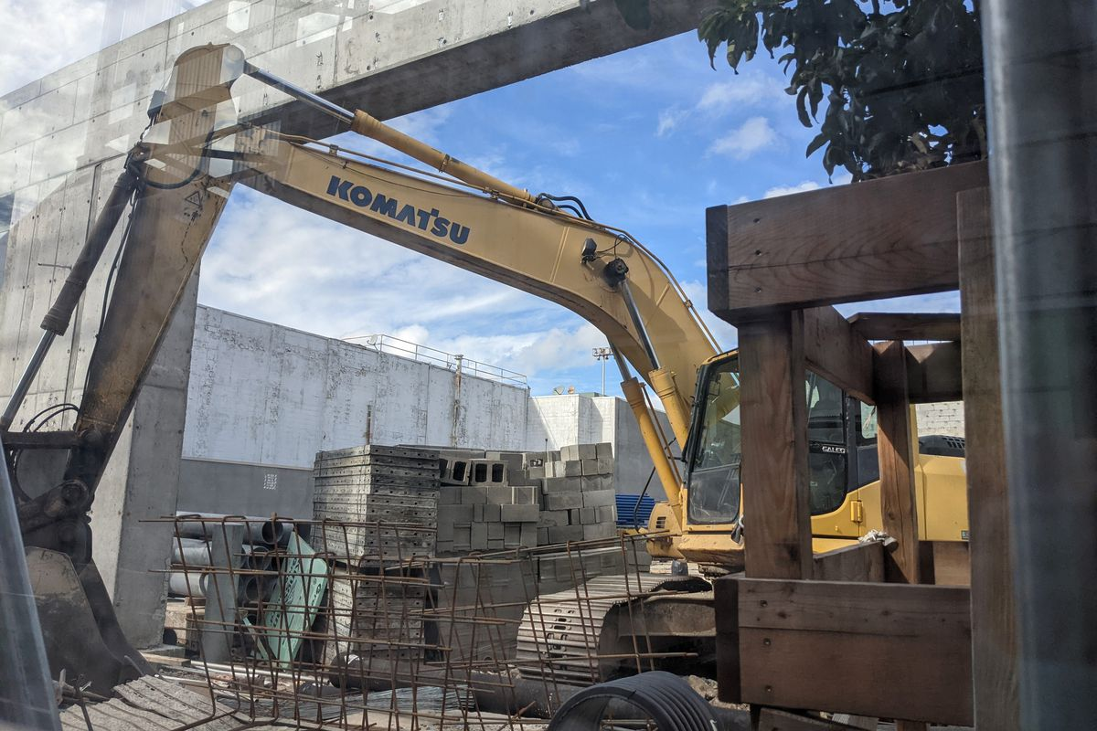 The Department of Sanitation was constructing a new garage at 217 East 127th St. in Harlem, Sept. 23, 2021.
