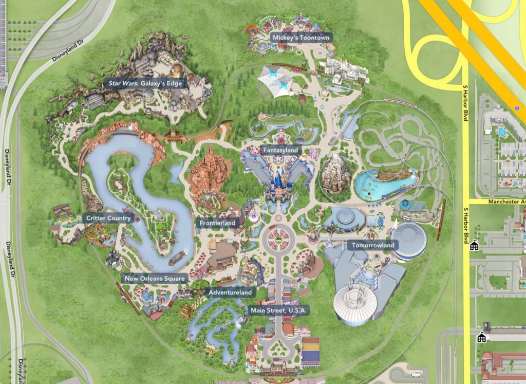 This is a picture of Enterprising Printable Disneyland Maps