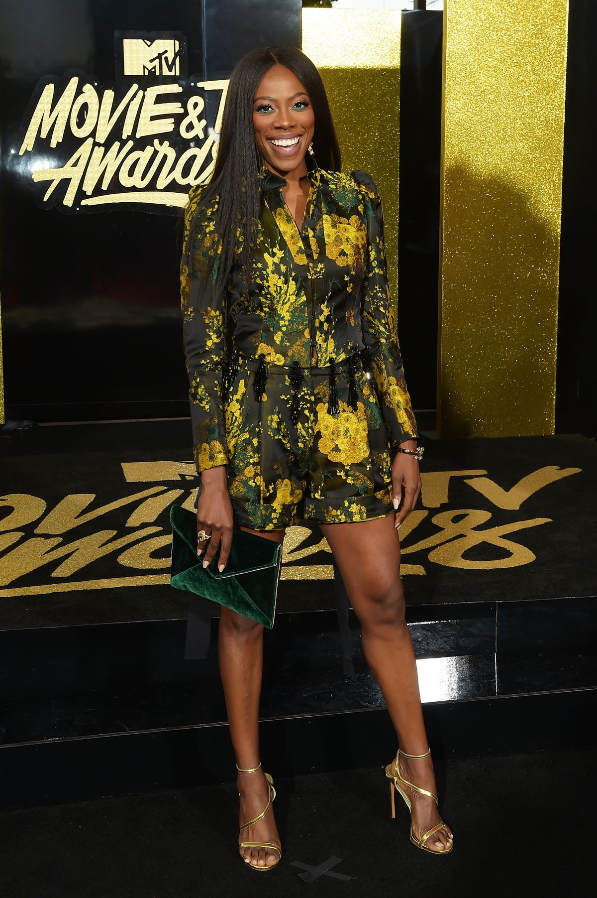 Yvonne Orji in Dries Van Noten at the 2017 MTV Movie and TV Awards.