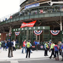5:26 p.m. CPD presence outside of the bleacher gate -