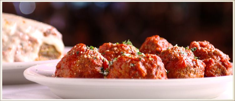 A plate of five meatballs