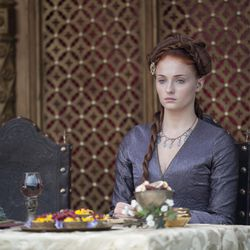"""Photo: Sansa's face is saying, """"Don't you dare try to touch this sausage on my head!"""""""