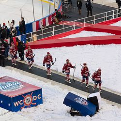 Victorious Capitals Leaving Ice
