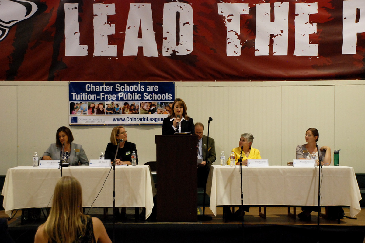Candidates for the Jefferson County school board answered questions at a forum hosted by the Colorado League of Charter Schools.