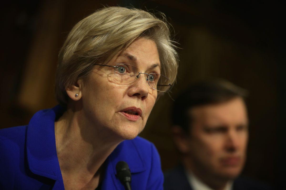 Elizabeth Warren at a HELP committee hearing.