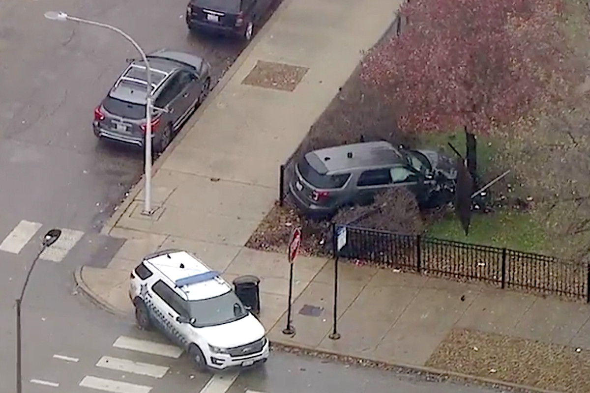 Five Chicago police officers were transported to hospitals Nov. 21, 2019, after a crash on the West Side.