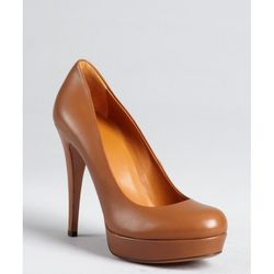 "Gucci Brown Russet Leather Betty Platform Pumps, $520 at <a href=""http://boydsphila.com/"">Boyds</a>"