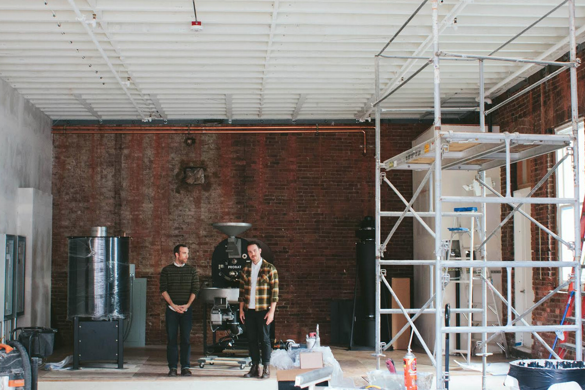 Elm's Mullally and Fitchette when the space was under construction.