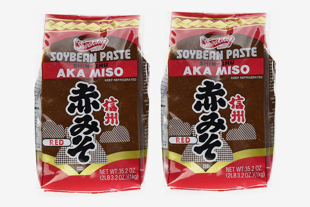 two packages of shirakiku red miso