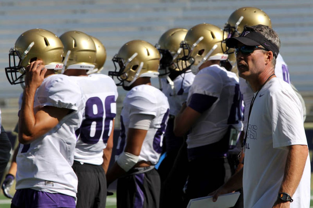 Coach Petersen is continuing preach fundamentals at UW's first week of fall practices.
