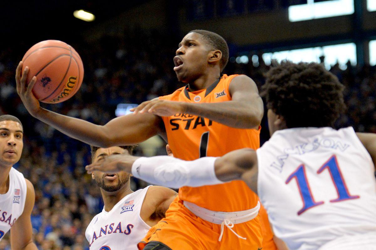 NCAA Basketball: Oklahoma State at Kansas