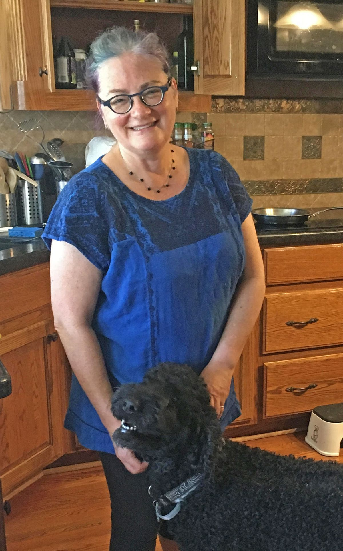 Hannele Rubin, here with dog Rufus, attended Northwestern University's Medill School of Journalism, and now teaches at Texas A & M University in College Station.   Maudlyne Ihejirika   Sun-Times