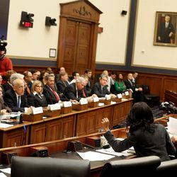 Rep. Mia Love, R-Utah, attends a Financial Services Committee meeting at the U.S. Capitol in Washington, D.C., on Tuesday, Dec. 8, 2015.