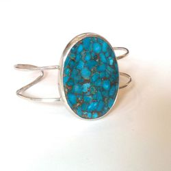 Melissa Joy Manning turquoise and sterling silver cuff, originally $540, now $270