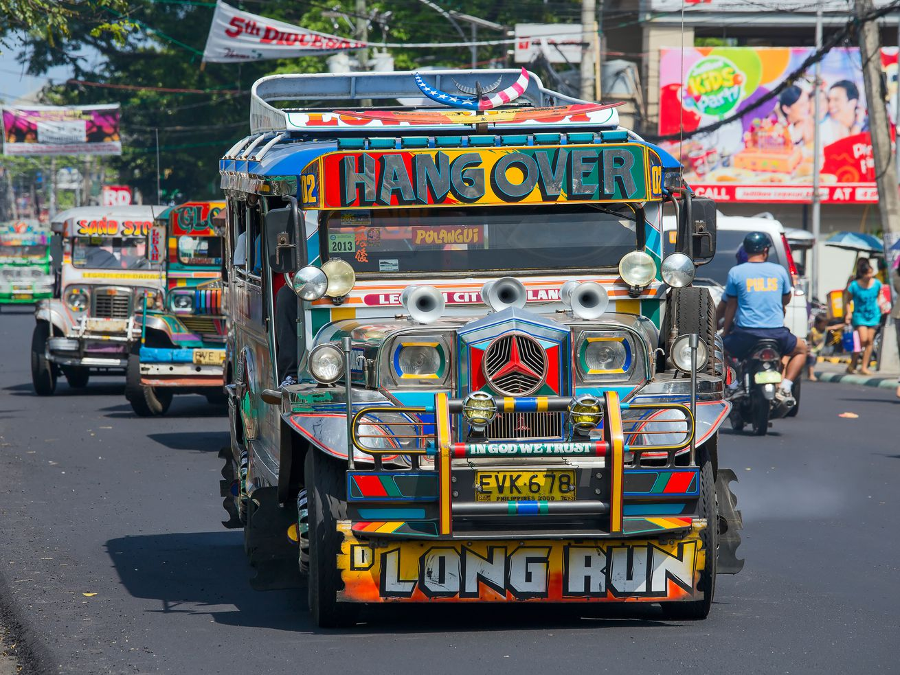 Jeepneys are a popular form of transit in the Philippines, and there's one in LA's Historic Filipinotown.