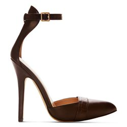 Ankle Strap Shoe in Brown, $39.99