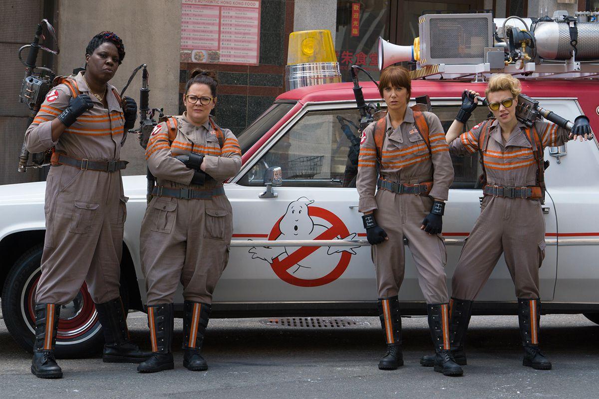 """Ghostbuster"" stars Leslie Jones (from left), Melissa McCarthy, Kristen Wiig and Kate McKinnon.   Sony Pictures"