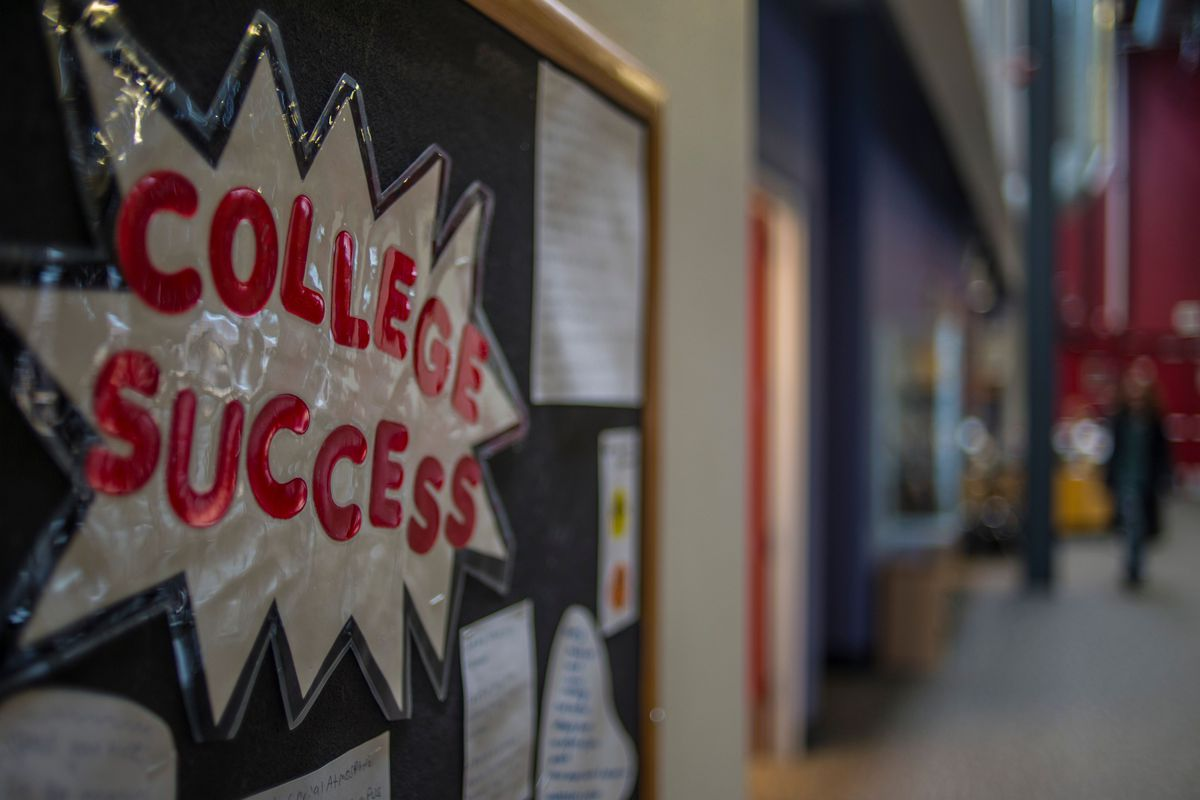 """A bulletin board that says """"College Success."""""""