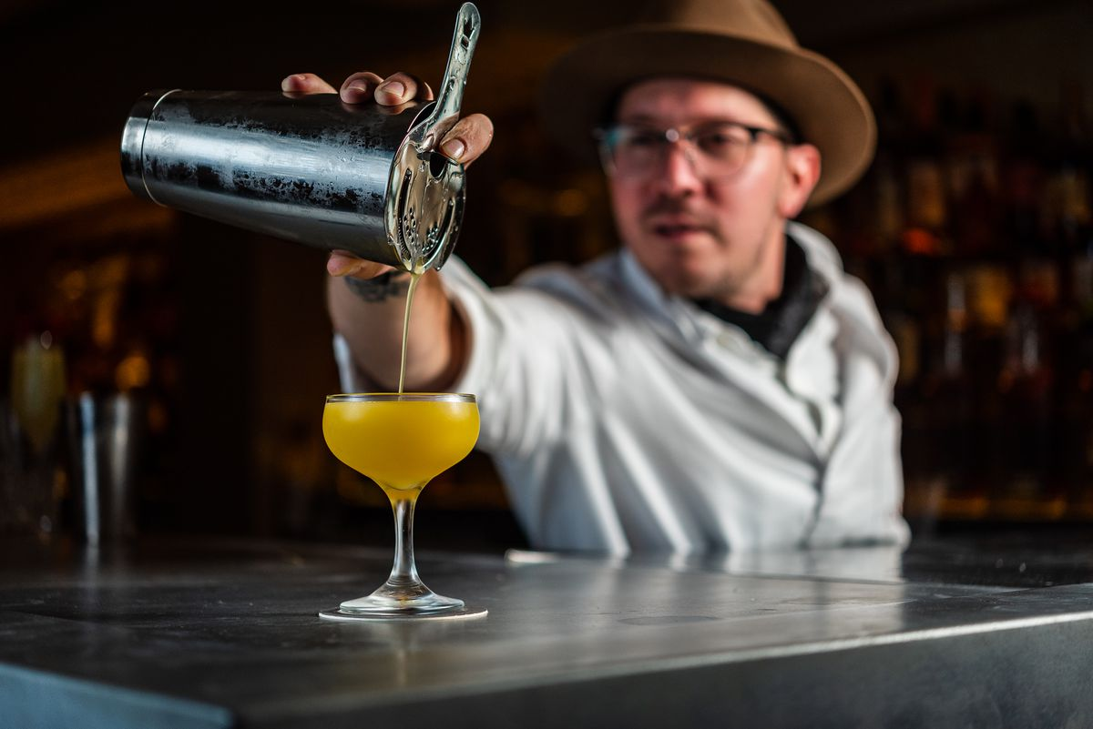 A bright cocktail at L'Annexe