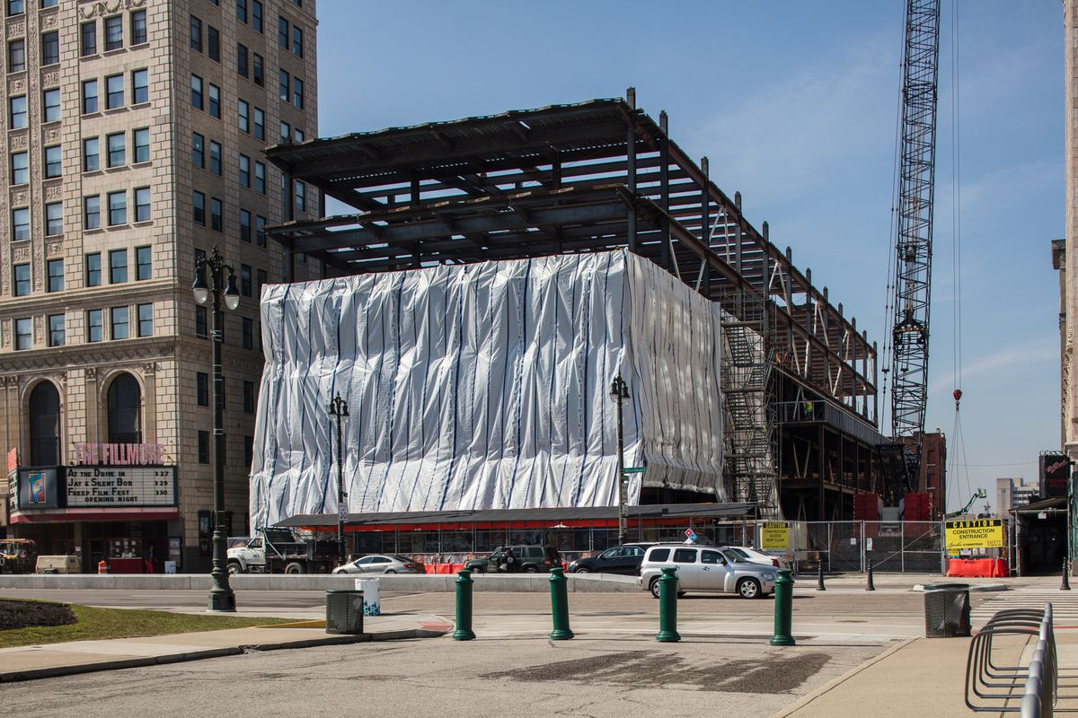 Arena District Construction Update Little Caesars Hq