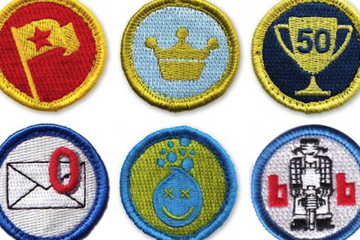 "Badges, via <a href=""http://www.nerdmeritbadges.com/"">Nerd Merit Badges</a>"