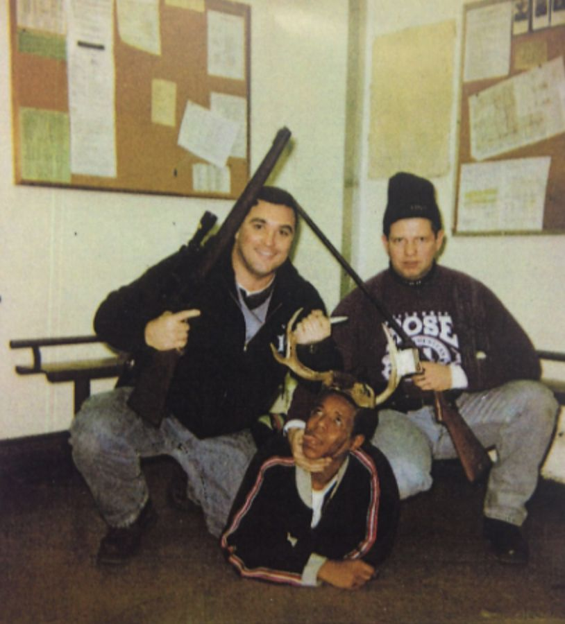 Chicago Police officers Jerome Finnigan (left) and Timothy McDermott with Michael Spann. | Photo from court file