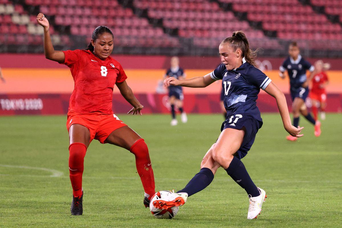 Canada v Great Britain: Women's Football - Olympics: Day 4