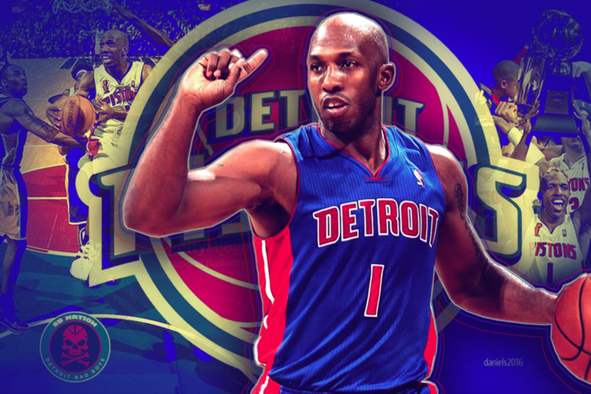 050e42d80 Chauncey Billups  No. 1 goes up with all-time Pistons greats ...