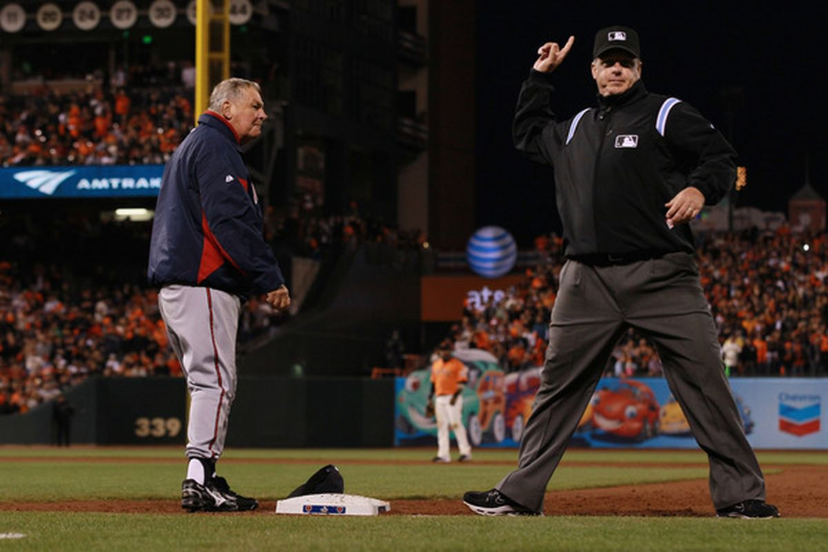 This was the 161st (and last) ejection in Bobby Cox's managerial career
