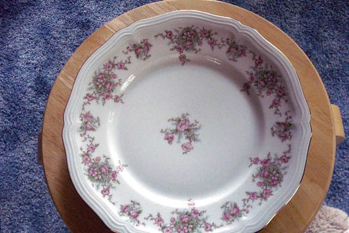 Johann Haviland Bavaria China Saucers Wild Rose Pattern