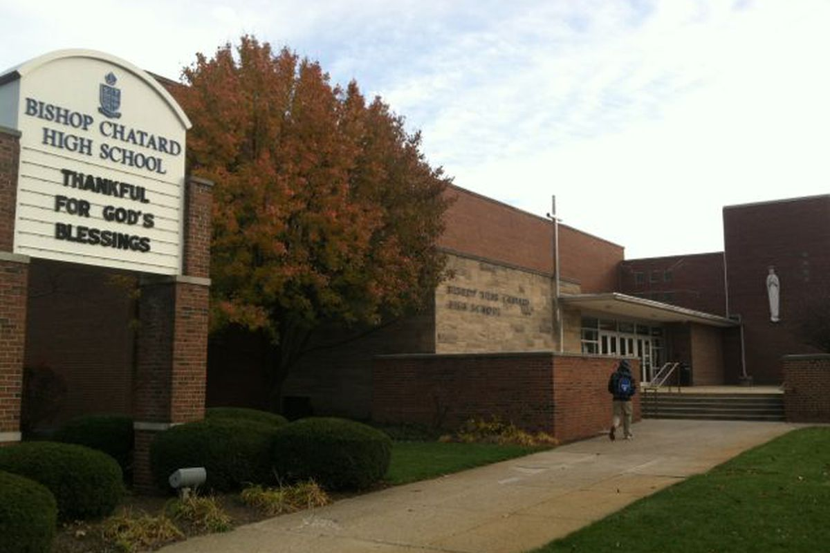 Most private schools in Indiana, like Chatard Catholic High School in Indianapolis, have students paying tuition with help from state-funded vouchers or tax credits.