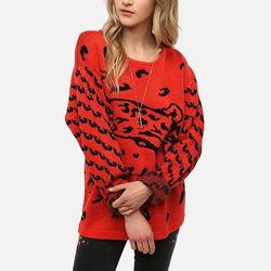 """<b>MinkPink</b> Once A Cheetah Pullover Sweater, <a href=""""http://www.urbanoutfitters.com/urban/catalog/productdetail.jsp?id=25853961&parentid=W_APP_SWEATERS"""">$80</a>"""