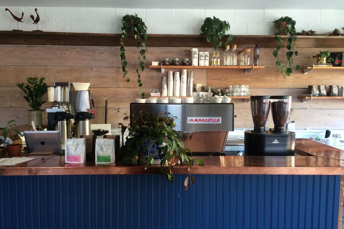 The coffee bar at Prince Coffee