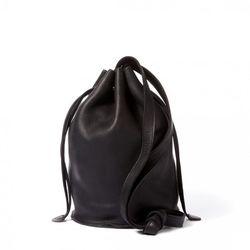 "Baggu leather drawstring bag, <a href=""http://otteny.com/shop/handbags/leather-drawstring-bag-52766.html"">$140</a>"