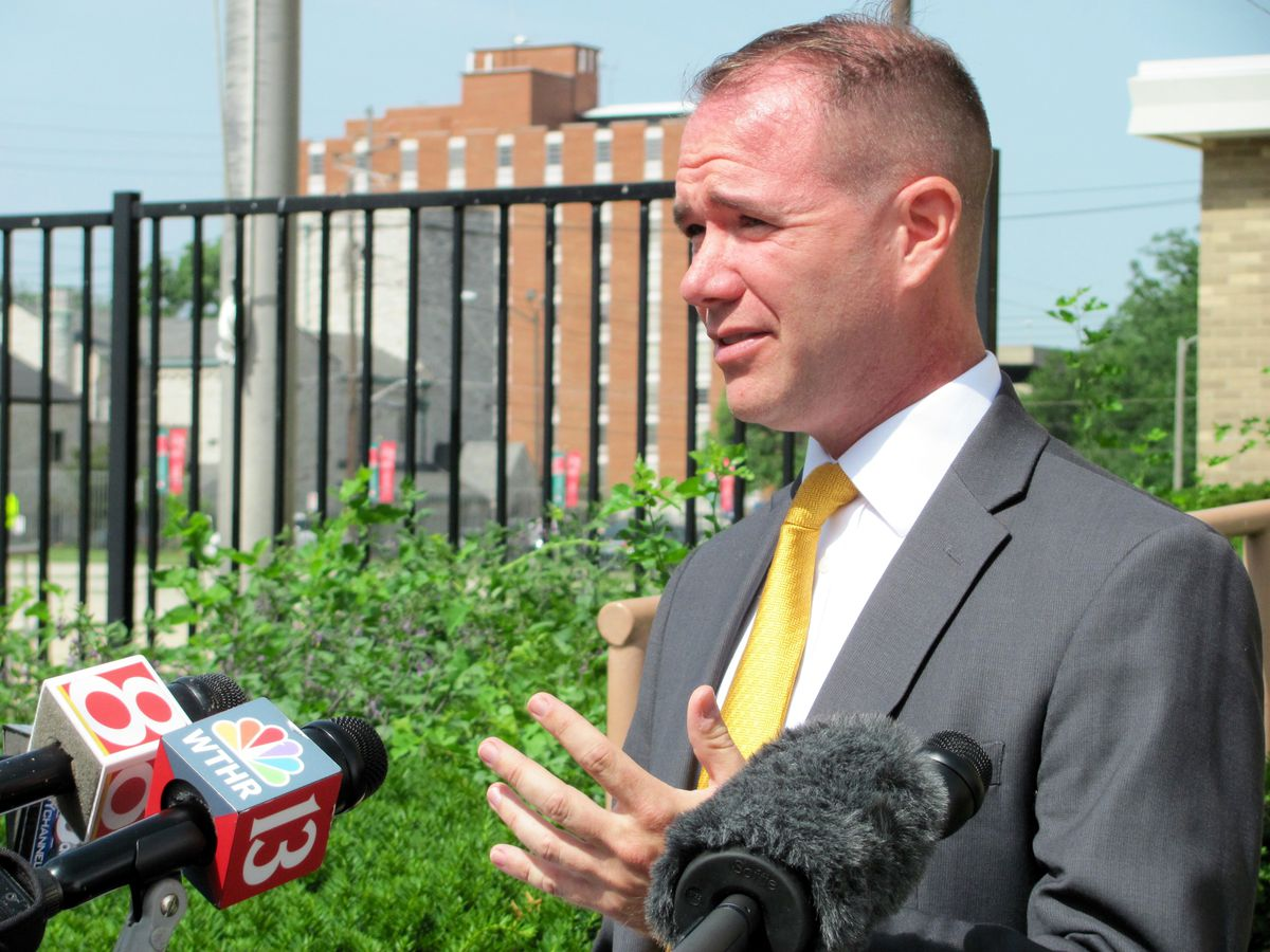 Chuck Brewer outlined his education priorities in June at Indianapolis Public School 60.